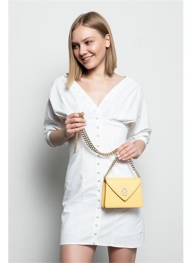Marie Claire Postacı Çantası Sarı